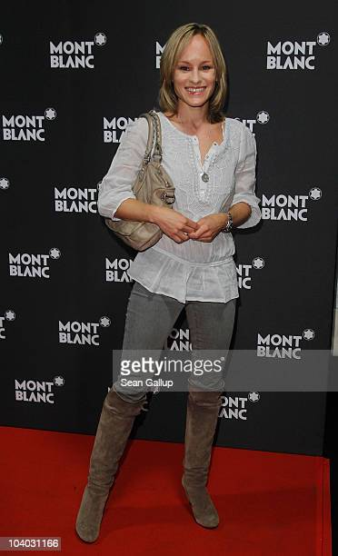 Actress Dorkas Kiefer attends the Montblanc John Lennon Edition Pen Launch Party at Spindler Klatt on September 12 2010 in Berlin Germany