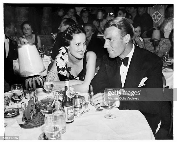 Actress Dorothy Lamour and actor Randolph Scott attend an event in Los Angeles California