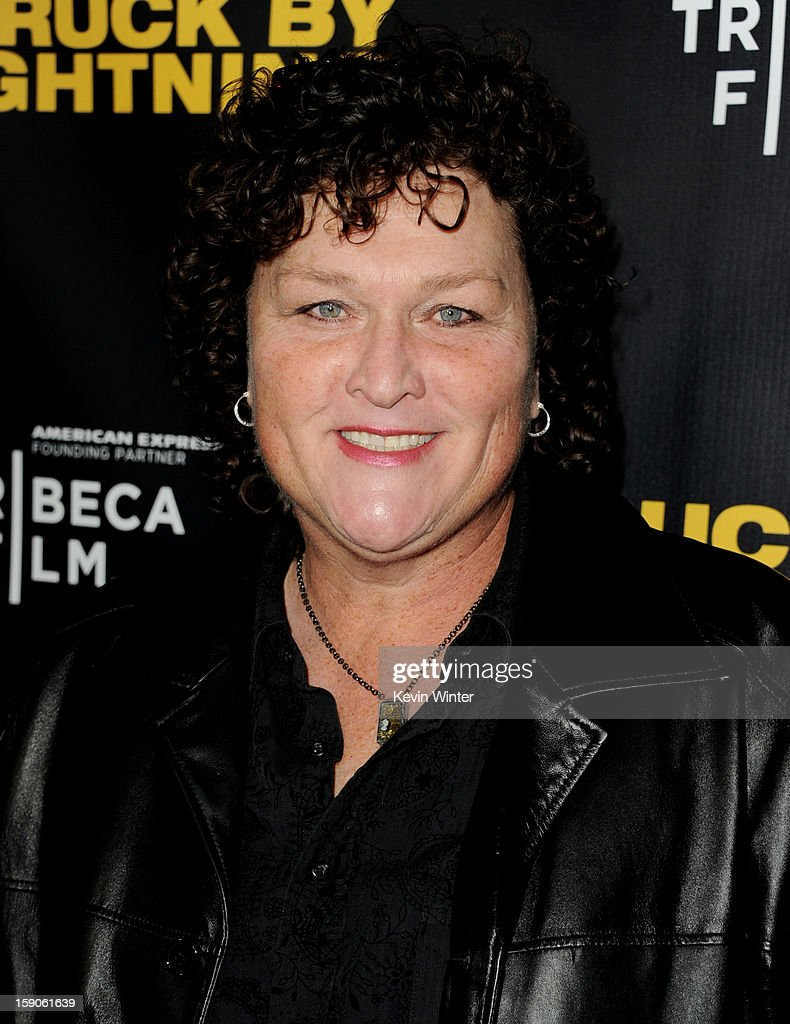 Actress Dot Jones arrives at a screening of Tribeca Film's 'Struck By Lightning' at the Chinese Cinema 6 Theaters on January 6, 2013 in Los Angeles, California.
