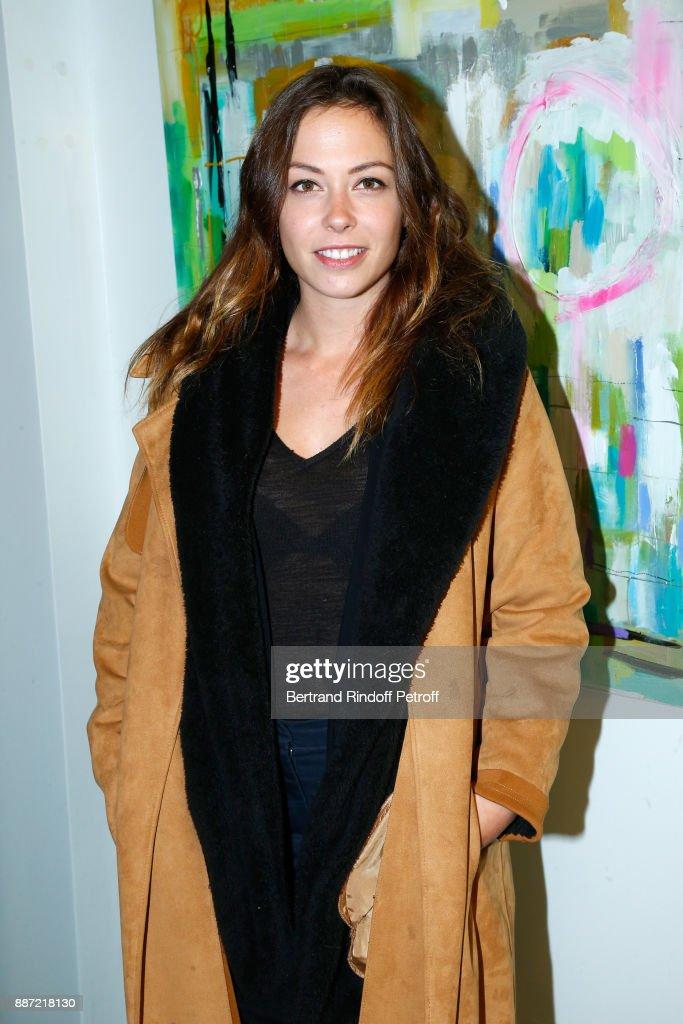 "Painter Caroline Faindt Exhibition Opening At ""L'Espace Reduit"" In Paris"