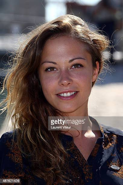 Actress Dounia Coesens attends the 17th Festival of TV Fiction At La Rochelle on September 10 2015 in La Rochelle France