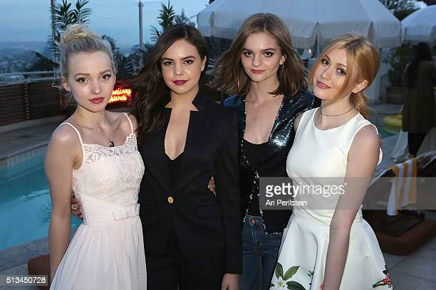 Actress Dove Cameron Actress Bailee Madison Actress Kerris Dorsey and Actress Katherine McNamara attend Ted Baker London SS'16 Launch Event at Sunset...