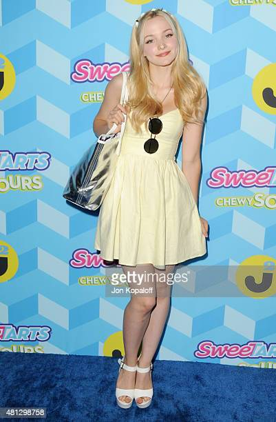 Actress Dove Cameron arrives at Just Jared's Summer Bash Pool Party 2015 on July 18 2015 in Los Angeles California