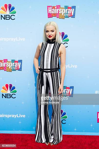 Actress Dove Cameron attends the press junket for NBC's 'Hairspray Live' at NBC Universal Lot on November 16 2016 in Universal City California