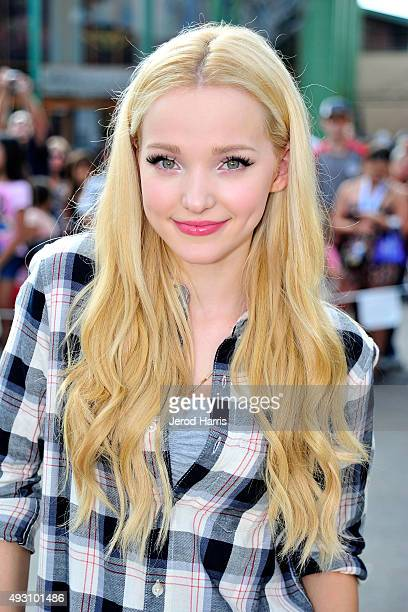 Actress Dove Cameron of Disney's 'Descendants' performs and joins fans at Downtown Disney at Disneyland Resort on October 17 2015 in Anaheim...