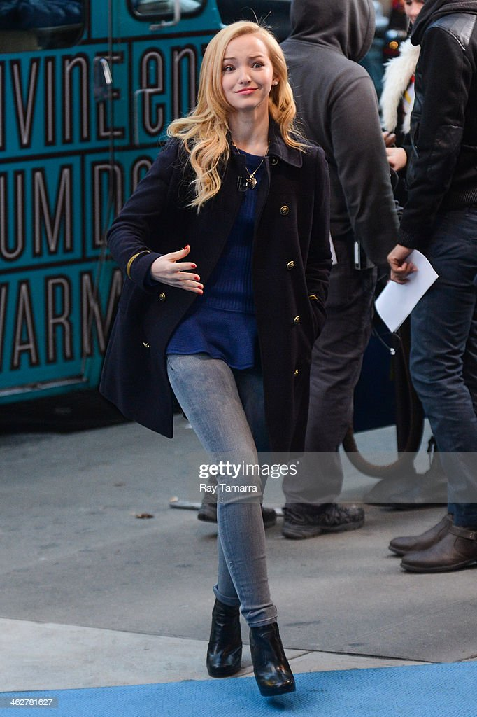 Actress Dove Cameron tapes an interview at the 'Good Morning America' taping at the ABC Times Square Studios on January 15, 2014 in New York City.