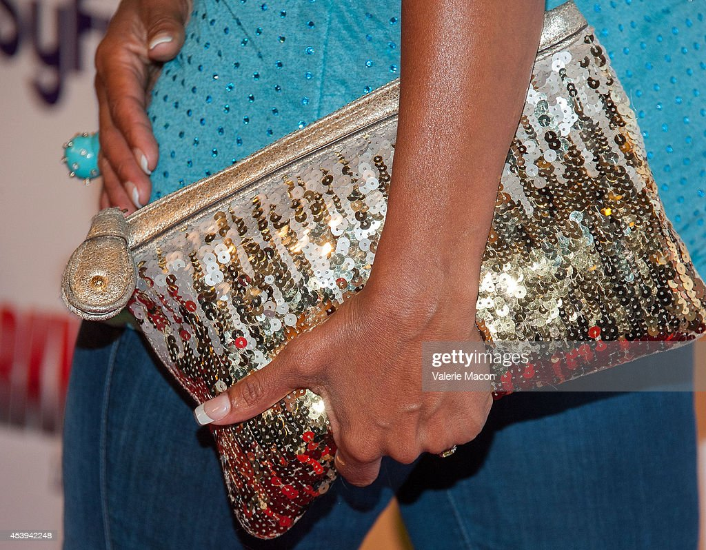 Actress Downtown Julie Brown arrives at the Premiere Of The Asylum & Fathom Events' 'Sharknado 2: The Second One' at Regal Cinemas L.A. Live on August 21, 2014 in Los Angeles, California.