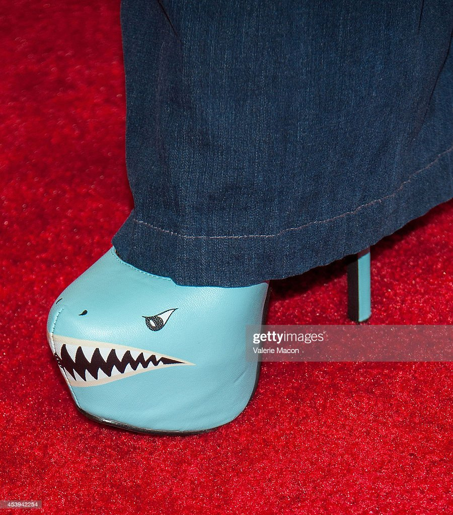 Actress Downtown Julie Brown arrives at the Premiere Of The Asylum Fathom Events' 'Sharknado 2 The Second One' at Regal Cinemas LA Live on August 21...