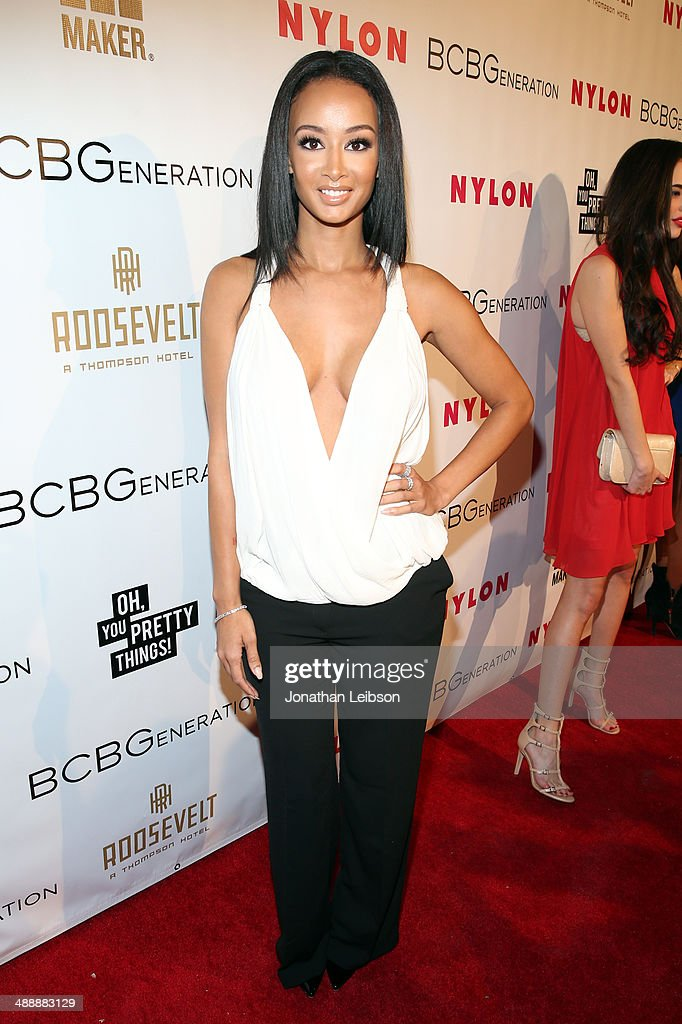 Actress <a gi-track='captionPersonalityLinkClicked' href=/galleries/search?phrase=Draya+Michele&family=editorial&specificpeople=8019170 ng-click='$event.stopPropagation()'>Draya Michele</a> attends the Nylon + BCBGeneration May Young Hollywood Party at Hollywood Roosevelt Hotel on May 8, 2014 in Hollywood, California.