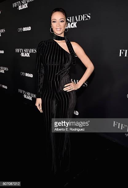 Actress Draya Michele attends the premiere of Open Road Films' 'Fifty Shades of Black' at Regal Cinemas LA Live on January 26 2016 in Los Angeles...