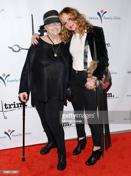 Actress Drea de Matteo and her mother Donna attend the Grand Opening of Trim Salon On Rose at Trim Salon On Rose on May 11 2013 in Venice California