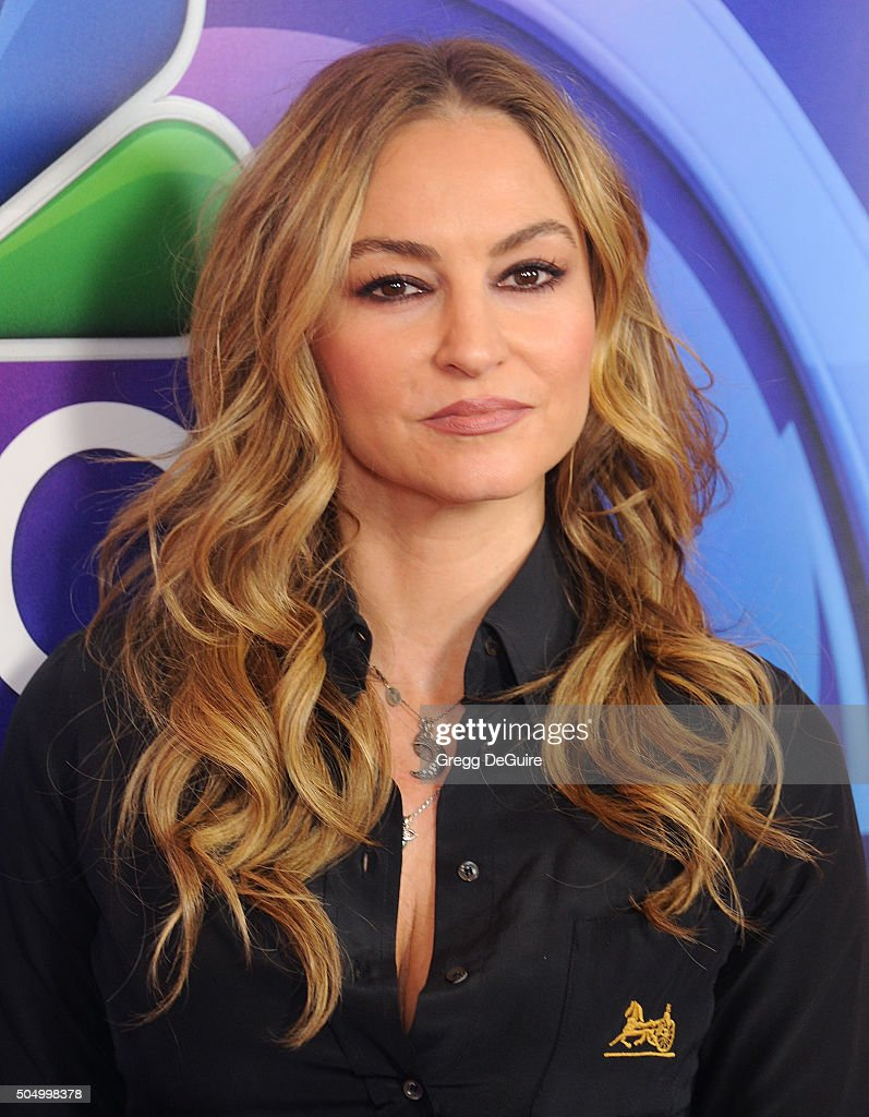 Actress Drea de Matteo arrives at the 2016 NBCUniversal Winter TCA Press Tour at Langham Hotel on January 13, 2016 in Pasadena, California.