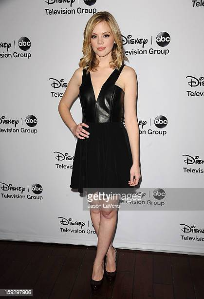 Actress Dreama Walker attends the Disney ABC Television Group 2013 TCA Winter Press Tour at The Langham Huntington Hotel and Spa on January 10 2013...