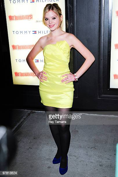 Actress Dreama Walker attends 'The Runaways' premiere at the Landmark Sunshine Cinema on March 17 2010 in New York City