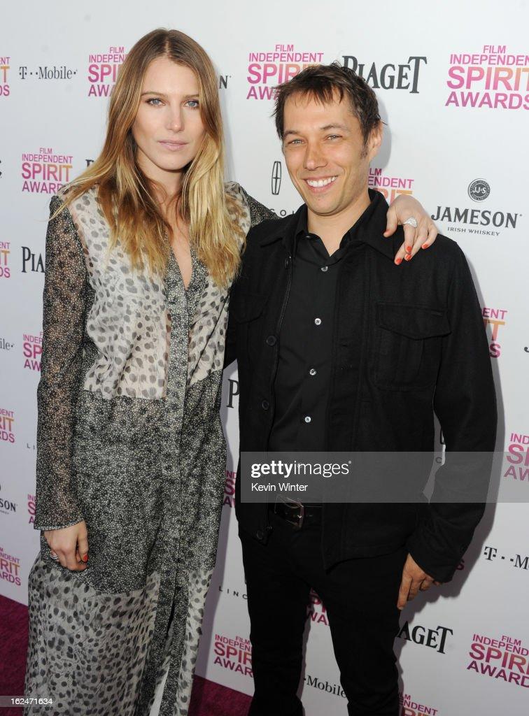 Actress Dree Hemingway and director Sean Baker attend the 2013 Film Independent Spirit Awards at Santa Monica Beach on February 23, 2013 in Santa Monica, California.