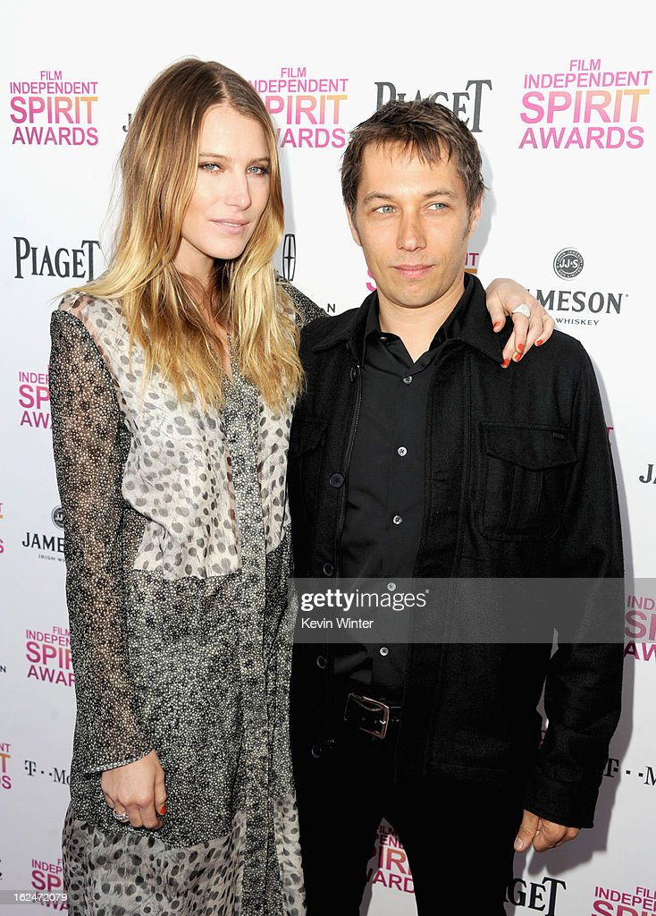 Actress Dree Hemingway and director Sean Baker attend the 2013 Film Independent Spirit Awards at Santa Monica Beach on February 23, 2013 in Santa Monica, California.