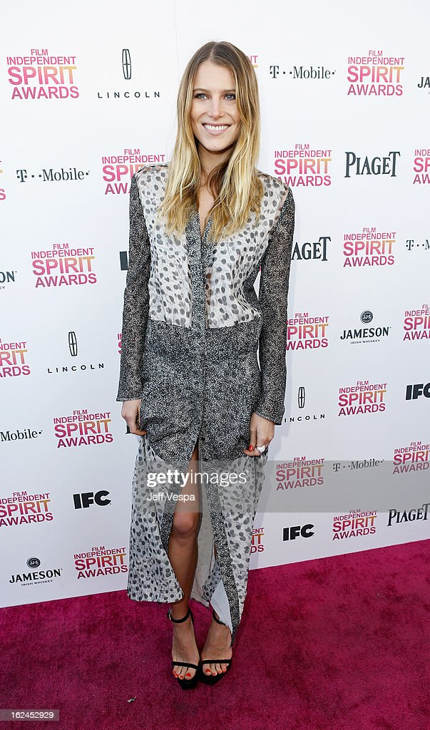 Actress Dree Hemingway attends the 2013 Film Independent Spirit Awards at Santa Monica Beach on February 23, 2013 in Santa Monica, California.