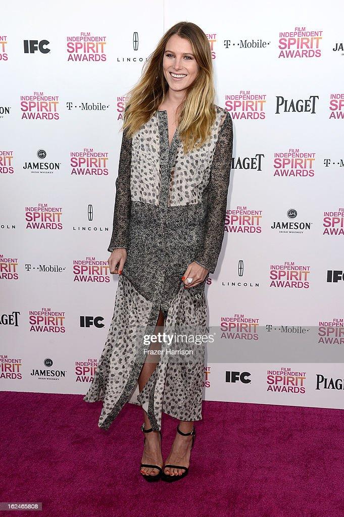 Actress Dree Hemingway attends the 2013 Film Independent Spirit Awards at Santa Monica Beach on February 23, 2013 in Santa Monica, California.
