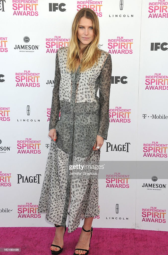 Actress Dree Hemingway attends the 2013 Film Independent Spirit Awards held on the Santa Monica Beach on February 23, 2013 in Santa Monica, California.