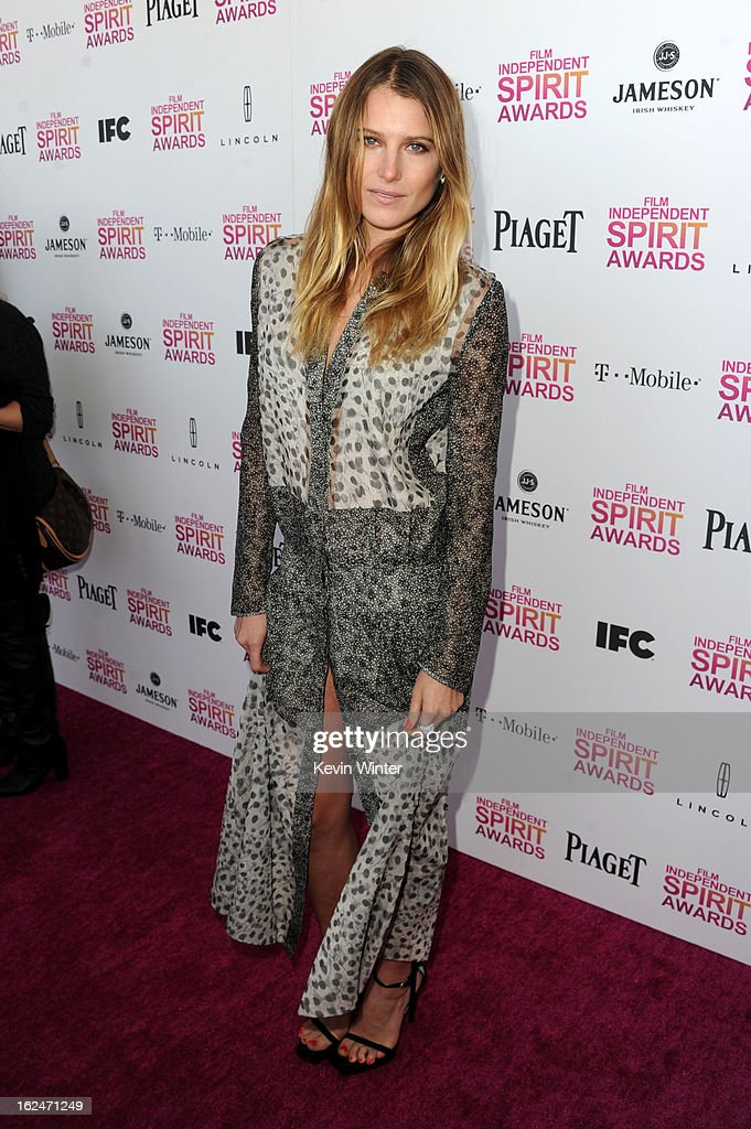 Actress Dree Hemmingway attends the 2013 Film Independent Spirit Awards at Santa Monica Beach on February 23, 2013 in Santa Monica, California.