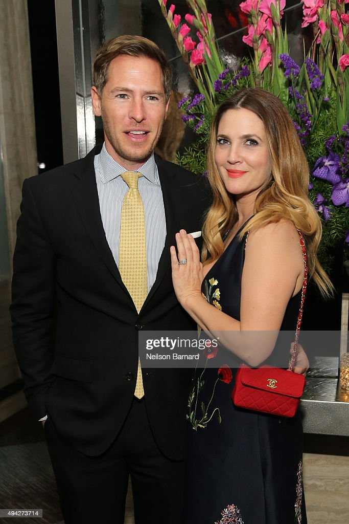 Actress Drew Barrymore and husband Will Kopelman attend the Montblanc & The Cinema Society screening of Roadside Attractions & Lionsgate's 'Miss You Already' after party at The Rainbow Room on October 25, 2015 in New York City.