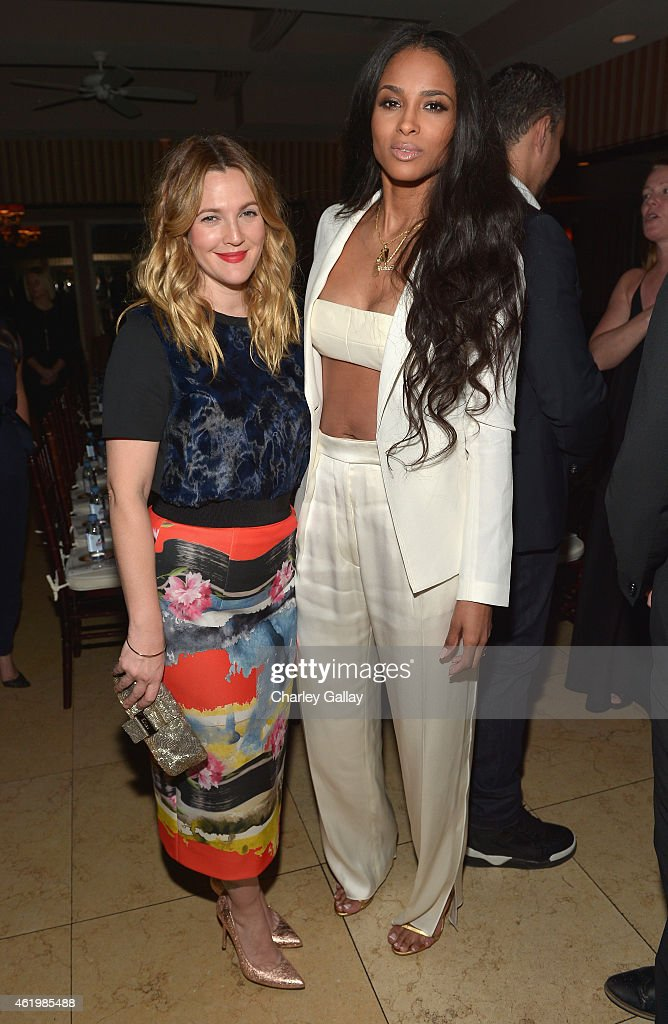 Actress Drew Barrymore and singer/songwriter Ciara attend The DAILY FRONT ROW 'Fashion Los Angeles Awards' Show at Sunset Tower on January 22 2015 in...