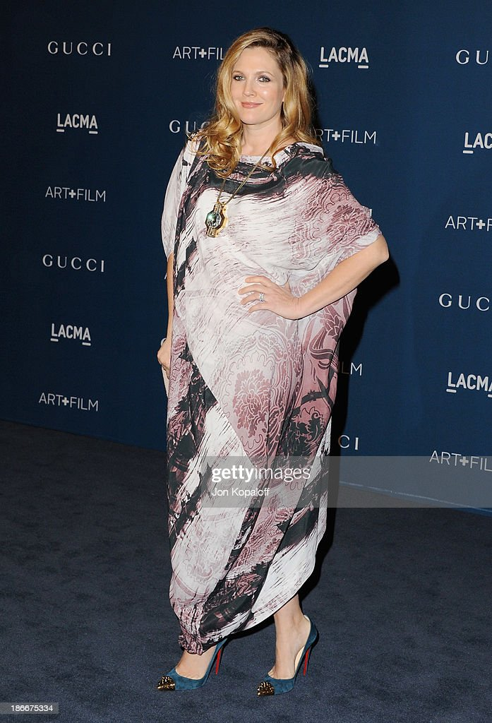 Actress <a gi-track='captionPersonalityLinkClicked' href=/galleries/search?phrase=Drew+Barrymore&family=editorial&specificpeople=201623 ng-click='$event.stopPropagation()'>Drew Barrymore</a> arrives at LACMA 2013 Art + Film Gala at LACMA on November 2, 2013 in Los Angeles, California.