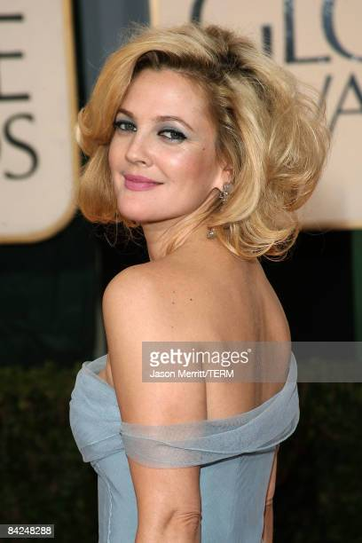 Actress Drew Barrymore arrives at the 66th Annual Golden Globe Awards held at the Beverly Hilton Hotel on January 11 2009 in Beverly Hills California