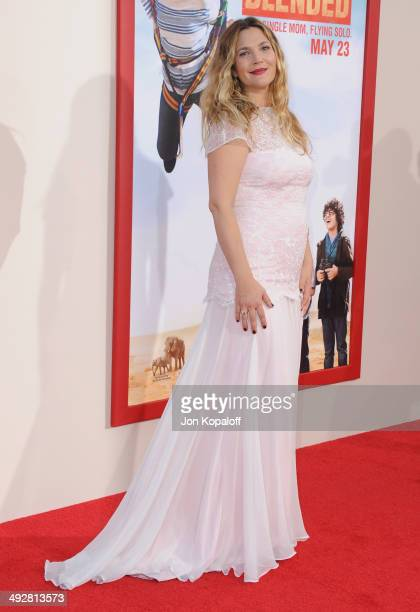 Actress Drew Barrymore arrives at the Los Angeles Premiere 'Blended' at TCL Chinese Theatre on May 21 2014 in Hollywood California