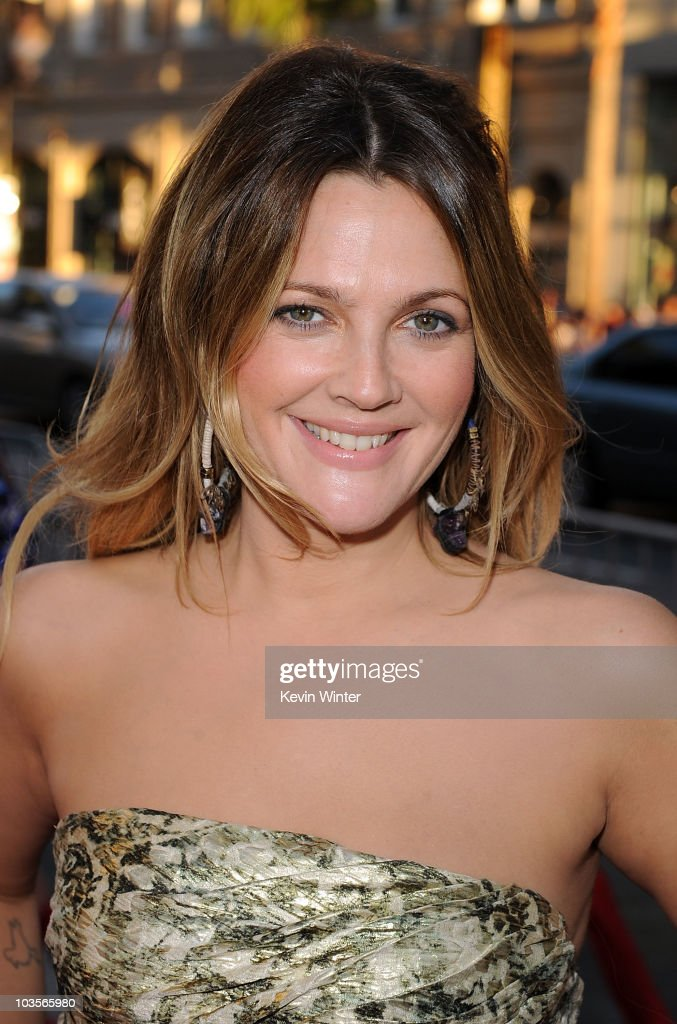 Actress Drew Barrymore arrives at the premiere of Warner Bros. 'Going The Distance' held at Grauman's Chinese Theatre on August 23, 2010 in Los Angeles, California.
