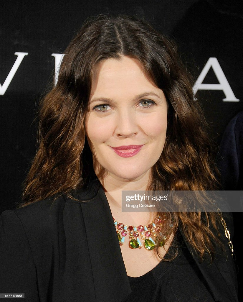 Actress Drew Barrymore arrives at the Rodeo Drive Walk of Style honoring BVLGARI on December 5, 2012 in Beverly Hills, California.