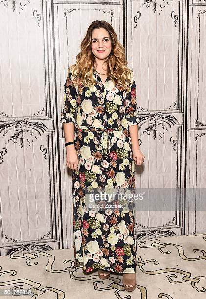 Actress Drew Barrymore attends AOL Build to discuss her new book 'Wildflower' at AOL Studios on December 17 2015 in New York City