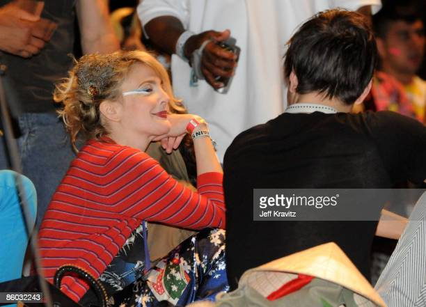Actress Drew Barrymore attends day 2 of the Coachella Valley Music Arts Festival 2009 at the the Empire Polo Club on April 18 2009 in Indio California