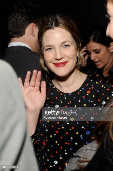 Actress Drew Barrymore attends Hollywood Stands Up To Cancer Event with contributors American Cancer Society and Bristol Myers Squibb hosted by Jim...