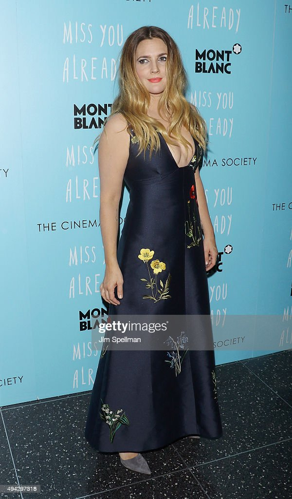 Actress Drew Barrymore attends Montblanc & The Cinema Society host a screening of Roadside Attractions & Lionsgate's New York premiere of 'Miss You Already' at Museum of Modern Art on October 25, 2015 in New York City.