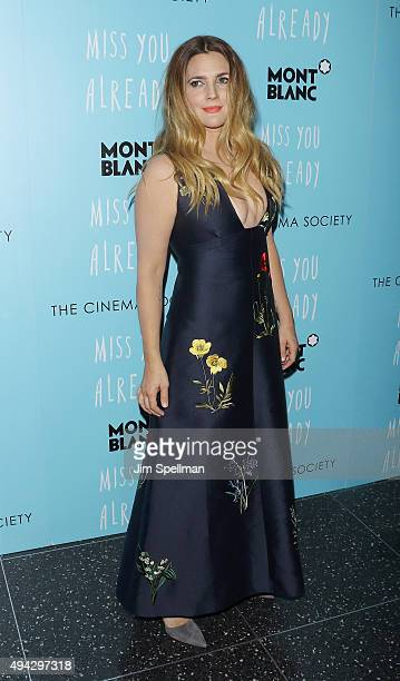 Actress Drew Barrymore attends Montblanc The Cinema Society host a screening of Roadside Attractions Lionsgate's New York premiere of 'Miss You...