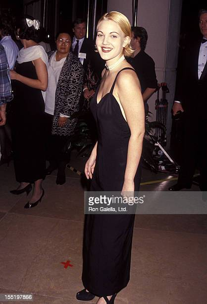 Actress Drew Barrymore attends the 50th Annual Golden Globe Awards on January 23 1993 at Beverly Hilton Hotel in Beverly Hills California