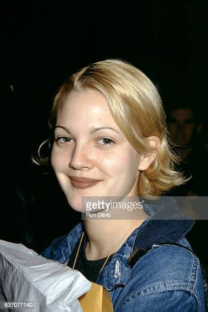 Actress Drew Barrymore attends the 50th Annual Golden Globe Awards Rehearsals on January 22 1993 at the Beverly Hilton Hotel in Beverly Hills...