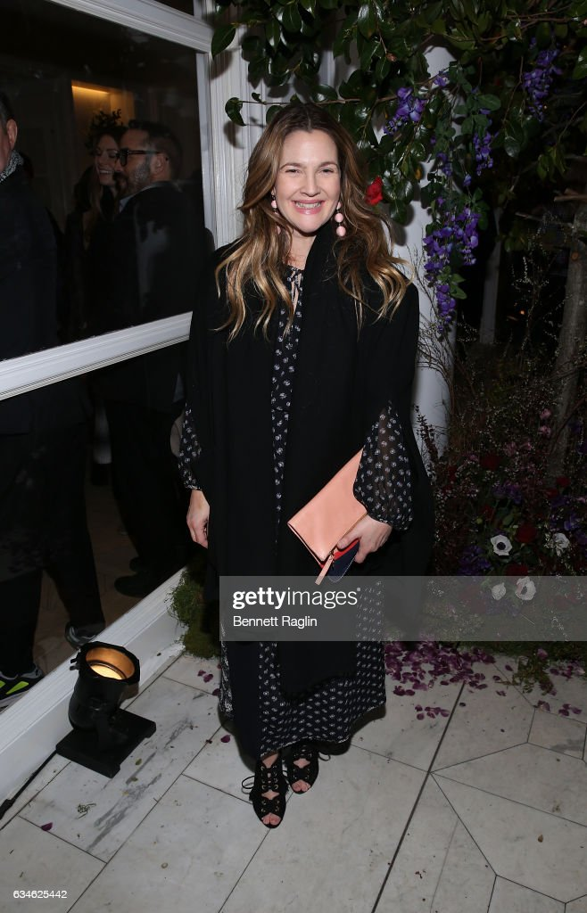 Actress Drew Barrymore attends the Club Monaco - Presentation at Club Monaco Fifth Avenue on February 10, 2017 in New York City.