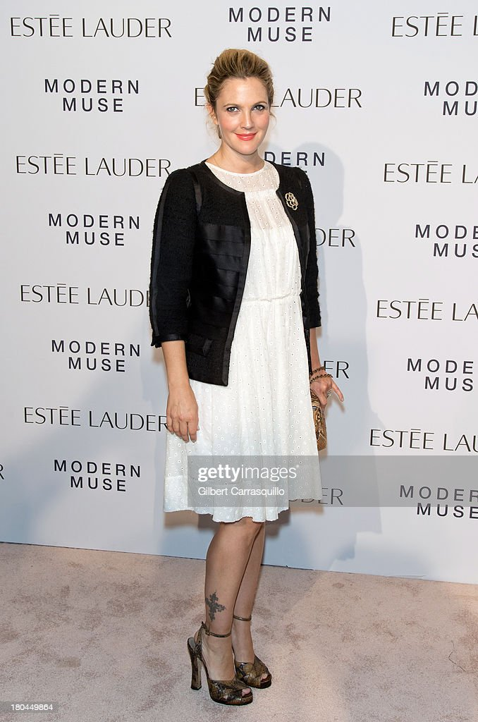 Actress <a gi-track='captionPersonalityLinkClicked' href=/galleries/search?phrase=Drew+Barrymore&family=editorial&specificpeople=201623 ng-click='$event.stopPropagation()'>Drew Barrymore</a> attends the Estee Lauder 'Modern Muse' Fragrance Launch at Guggenheim Museum on September 12, 2013 in New York City.