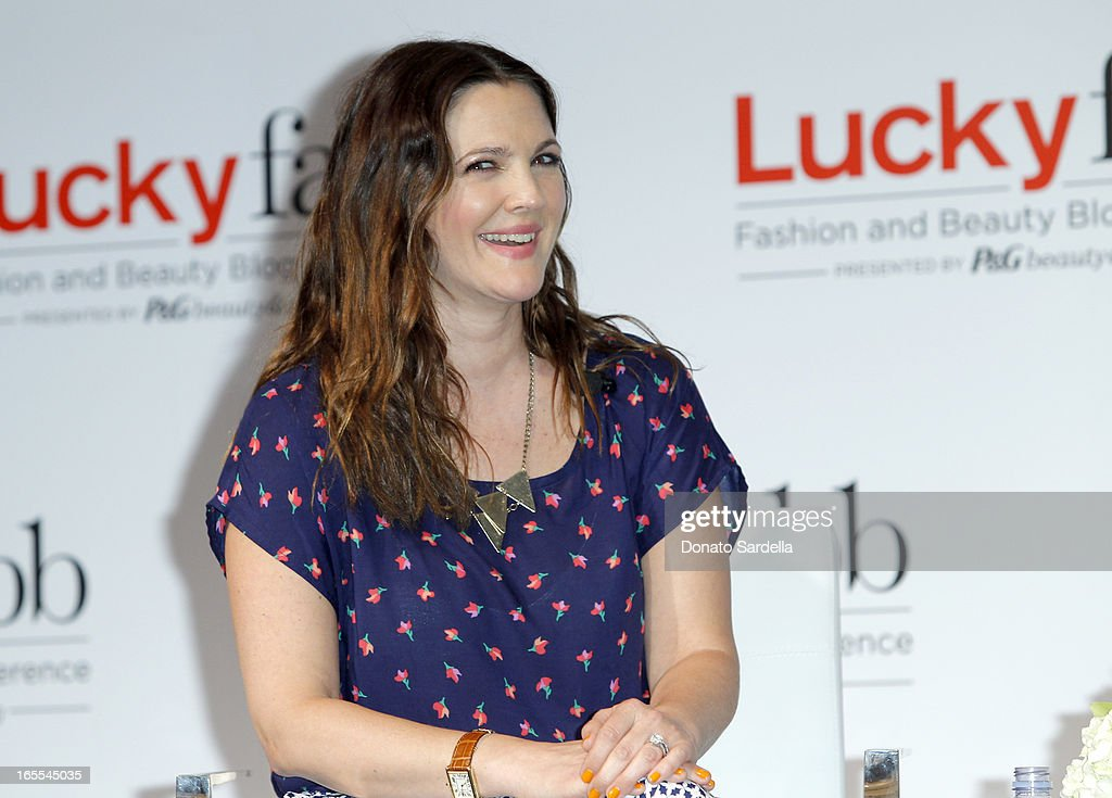 Actress Drew Barrymore attends the first-ever Lucky Magazine two day FABB West at SLS Hotel on April 4, 2013 in Beverly Hills, California.