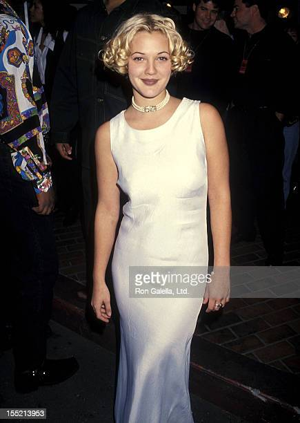 Actress Drew Barrymore attends the Fourth Annual Billboard Music Awards on December 8 1993 at Universal Amphitheatre in Universal City California