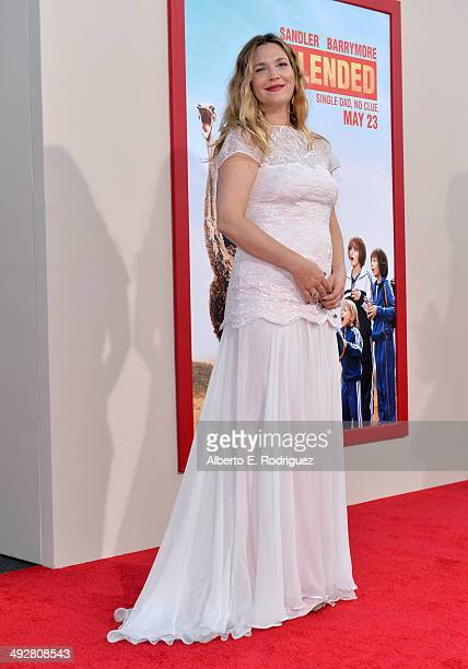 Actress Drew Barrymore attends the Los Angeles premiere of 'Blended' at TCL Chinese Theatre on May 21 2014 in Hollywood California
