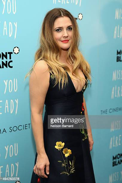 Actress Drew Barrymore attends the Montblanc The Cinema Society screening of Roadside Attractions Lionsgate's 'Miss You Already' at Museum of Modern...