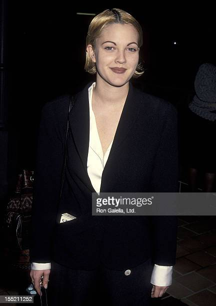 Actress Drew Barrymore attends the 'Motorama' West Hollywood Premiere on January 11 1993 at Laemmle's Sunset 5 in West Hollywood California