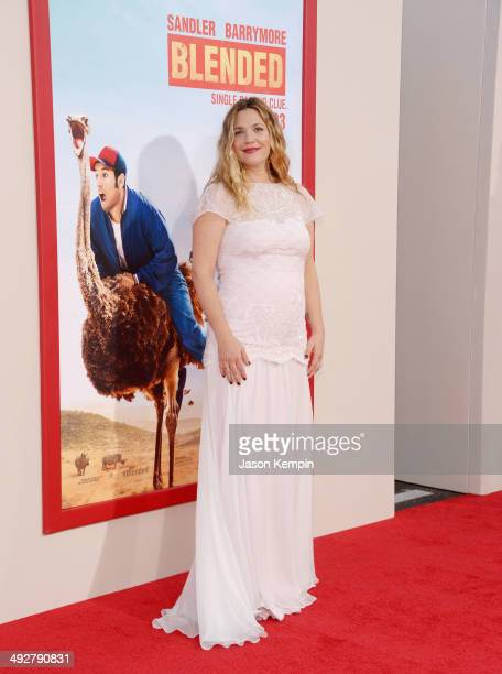 Actress Drew Barrymore attends the premiere of 'Blended' at TCL Chinese Theatre on May 21 2014 in Hollywood California