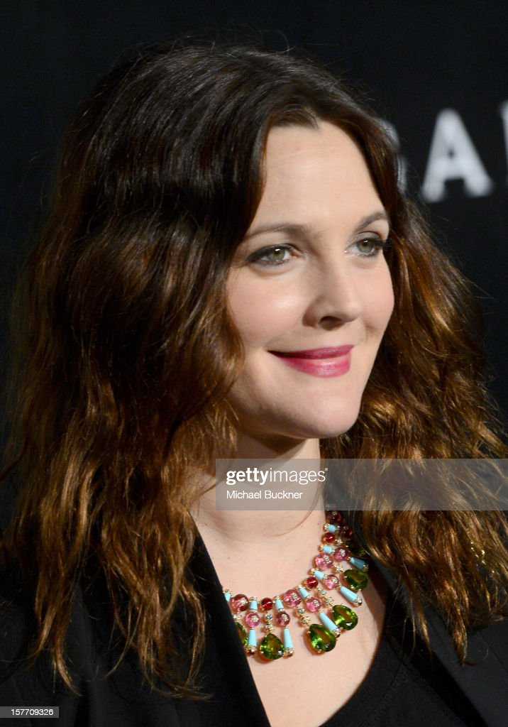 Actress <a gi-track='captionPersonalityLinkClicked' href=/galleries/search?phrase=Drew+Barrymore&family=editorial&specificpeople=201623 ng-click='$event.stopPropagation()'>Drew Barrymore</a> attends the Rodeo Drive Walk Of Style honoring BVLGARI and Mr. Nicola Bulgari held at Bulgari on December 5, 2012 in Beverly Hills, California.