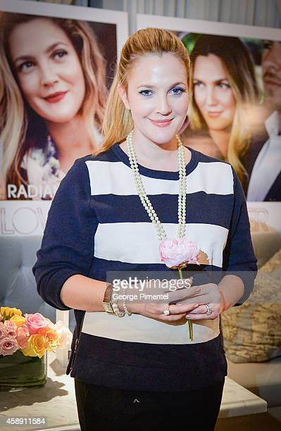 Actress Drew Barrymore launches Flower Love The Way You Look at the Thompson Hotel on November 12 2014 in Toronto Canada