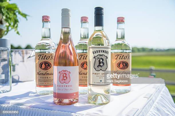 Actress Drew Barrymore's Wine Rose of Pinot Nior and Pinot Grigio at the Hamptons Magazine Memorial Day Soiree on May 28 2016 in Sagaponack New York