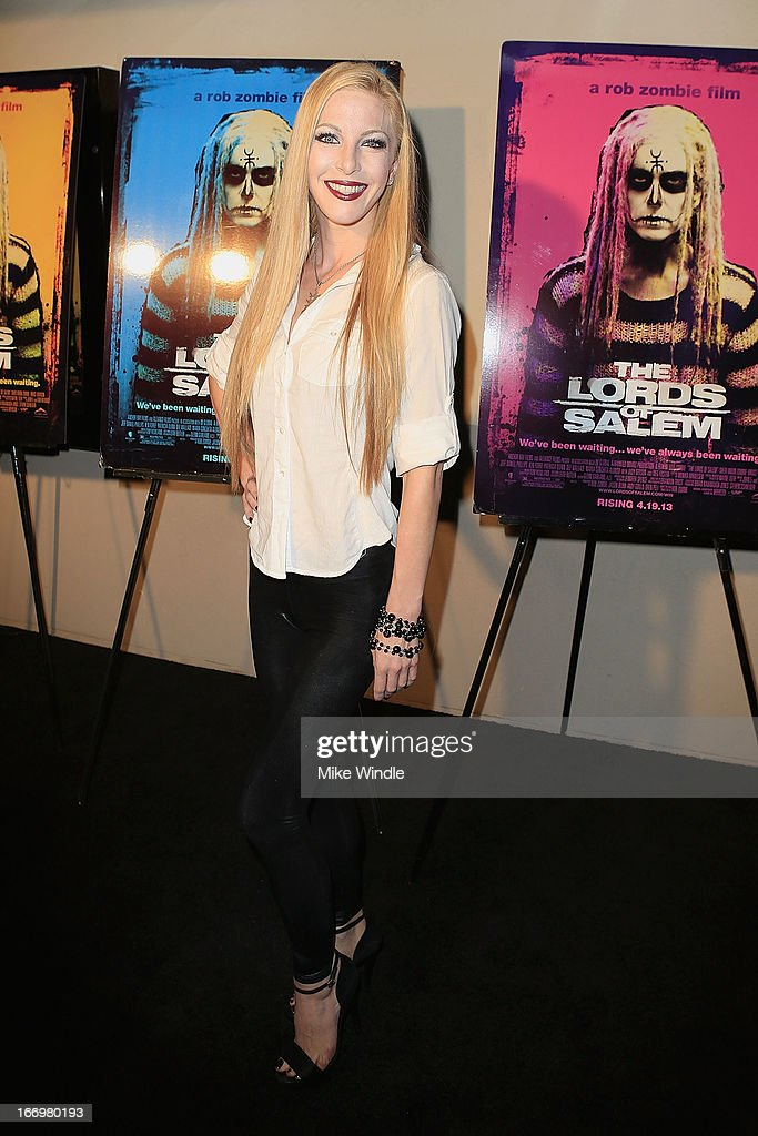 Actress Dustin Quick arrives at Rob Zombie's 'The Lords Of Salem' Los Angeles premiere at AMC Burbank 16 on April 18, 2013 in Burbank, California.